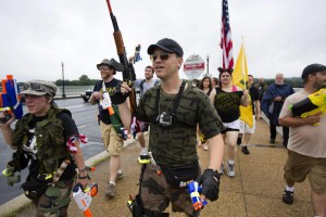 Gun Rights Supporters March into Washington DC