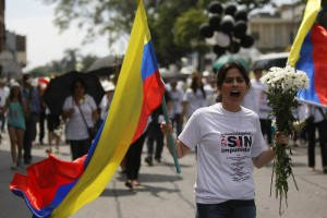 DEMONSTRATIONS AGAINST PEACE PROCESS IN CUBA