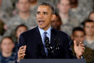 President Obama addresses troops in New Jersey