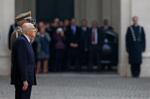 Napolitano leaves presidential palace