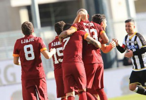 Soccer: serie A, Udinese-Roma