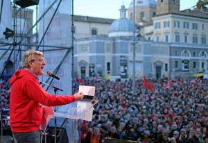Fiom rally against Renzi policies in Rome