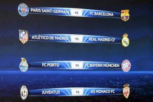 UEFA Champiopns League quarter final draw in Nyon