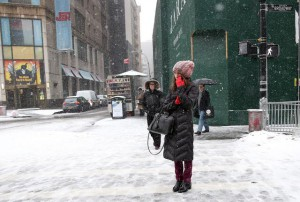 Snow storm in New York