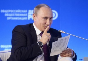 Russian President Vladimir Putin attends business forum in Moscow