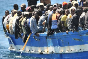 A boat with more immigrants aboard