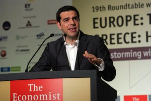 Greek Prime Minister Alexis Tsipras at Economist conference