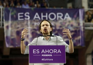 Pablo Iglesias, the Secretary General of the Spanish Podemos party