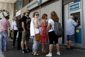 Capital controls in the banks of Greece