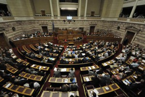 Debate in the Greek Parliament on a preliminary agreement with creditors