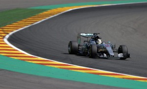 British Formula One driver Lewis Hamilton of Mercedes AMG GP in action during the second practice session at the Spa-Francorchamps race track near Francorchamps, Belgium, 21 August 2015.   EPA/VALDRIN XHEMAJ