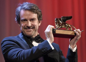 Venezuelan director Lorenzo Vigas holds the Golden Lion after receiving the award for his movie 'Desde Alla' (From Afar)  during the awarding ceremony of the 72nd annual Venice International Film Festival, in Venice, Italy, 12 September 2015. The  festival runs from 02 September to 12 September.  ANSA/CLAUDIO ONORATI
