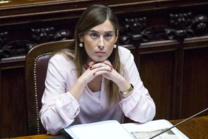 Foto Roberto Monaldo / LaPresse 05-03-2014 Roma Politica Camera dei Deputati - Question time Nella foto Maria Elena Boschi Photo Roberto Monaldo / LaPresse 05-03-2014 Rome (Italy) Chamber of Deputies - Question time In the photo Maria Elena Boschi