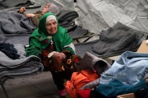105-year old Afghan woman. Bibihal Uzbeki from Kunduz, Afghanistan, rests in Croatia's main refugee camp at Opatovac, Croatia, near the border with Serbia, Tuesday, Oct. 27, 2015.  (ANSA/AP Photo/Marjan Vucetic)