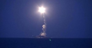 A handout frame grab taken from a video footage made available on the official website of the Russian Defence Ministry on 07 October 2015 shows a warship of the Caspian Flotilla launching missiles from the deployment area in the south-western Caspian Sea. According to information published on the official website of the Russian Defence Ministry, the warships of the Caspian Flotilla carried out massive strikes against Islamic State facilities in Syria by sea-based cruise missiles which passed through the airspace of Iran and Iraq and hit targets.  EPA/RUSSIAN DEFENCE MINISTRY PRESS SERVICE/