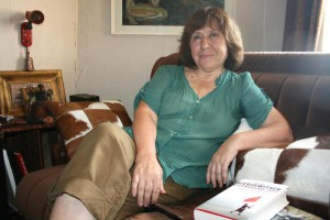 A file picture dated 20 August 2013 shows Belarusian writer Svetlana Alexievich at her home in Minsk, Belarus. Alexievich has won the 2015 Nobel Prize in Literature, The Swedish Academy announced in Stockholm on 08 October 2015.  EPA/ULF MAUDER