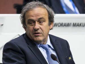 UEFA President Michel Platini attends the 65th FIFA Congress at the Hallenstadion in Zurich, Switzerland, 29 May 2015.  EPA/PATRICK B. KRAEMER
