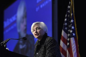 Federal Reserve Chair Janet Yellen speaks at the Economics Club of Washington in Washington, Wednesday, Dec. 2, 2015.  (ANSA/AP Photo/Susan Walsh)