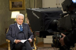 Italian President Sergio Mattarella during the year-end speech to Italians at Quirinale Palace in Rome, Italy, 31 December 2015. ANSA/QUIRINALE PRESS OFFICE/FRANCESCO AMMENDOLA