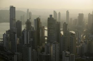 "Panama City skyline is seen at sunset in Panama, Monday, April 4, 2016. Panama's president says his government will cooperate ""vigorously"" with any judicial investigation arising from the leak of a vast trove of information on the offshore financial dealings of the world's rich and famous. An international coalition of media outlets Sunday published investigations it said stemmed from the leak of 115 million records kept by the Panama-based law firm Mossack Fonseca on behalf of clients. (ANSA/AP Photo/Arnulfo Franco)"