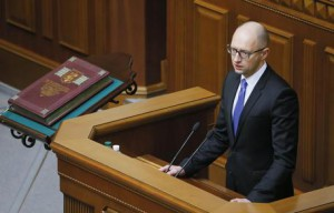 Ukraine parliament re-elects Yatsenyuk as prime minister, Groysmanas Parliament speaker