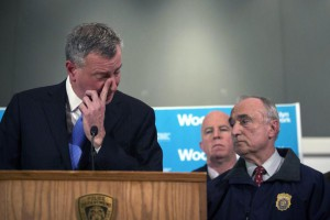 New York City Mayor Bill de Blasio presser on NYPD Police Officers shot in Brooklyn