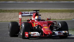 Formula One training session at Jerez racetrack