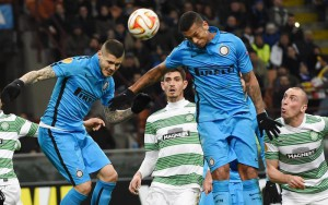 Soccer; Europa League Eight Finals; Inter-Celtic