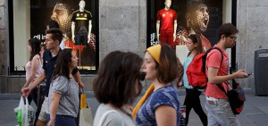 Merchandise For Sale As Spain Gears Up For The World Cup