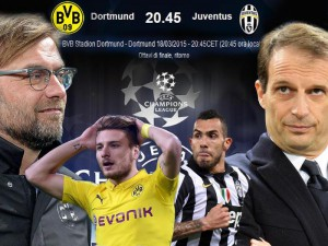 Borussia Dortmund-Juventus, in Champions League