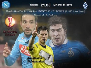 Europa League, in campo Napoli-Dinamo Mosca
