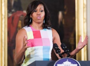 First Lady Michelle Obama delivers remarks during a ceremony to present the 2015 National Medal for Museum and Library Service