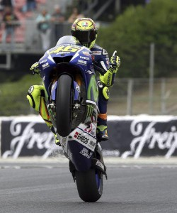 Valentino Rossi in Catalunya Motorcycling Grand Prix training