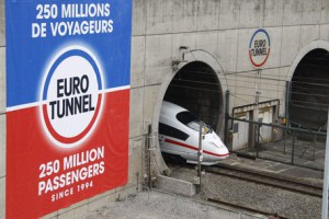 ICE train in Eurotunnel