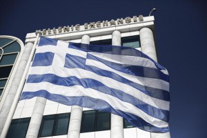 Greek flag flies outside the Athens Stock Exchange.  (ANSA/AP Photo/Petros Giannakouris, File)