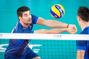 Filippo Lanza of Italy in action during the second round group E match between Australia and Italy of the FIVB Volleyball Men's World Championship 2014 at the Luczniczka Hall in Bydgoszcz, Poland, 14 September 2014.  EPA/TYTUS ZMIJEWSKI POLAND OUT