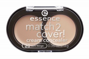 essence match2cover! cream concealer #20