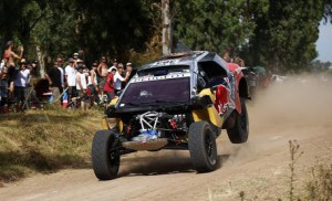 Spanish Carlos Sainz during the prologue stage of the Rally Dakar 2016 in Arrecife, 80 kilometers from Rosario, Argentina, 02 January 2016.  EPA/Felipe Turbo