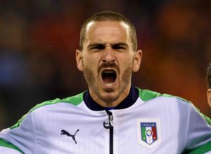 BRUSSELS, BELGIUM - NOVEMBER 13:  Leonardo Bonucci of Italy reacts prior to the international friendly match between Belgium and Italy at King Baudouin Stadium on November 13, 2015 in Brussels, Belgium.  (Photo by Claudio Villa/Getty Images)