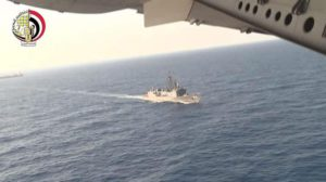A screen grab taken from a handout video obtained from the Egyptian Defence Ministry on 20 May 2016 shows Egyptian Navy engaged in search operations for missing EgyptAir flight MS804 at sea off the Egyptian coast, north of Alexandria, Egypt, 19 May 2016. EPA/EGYPTIAN DEFENCE MINISTRY