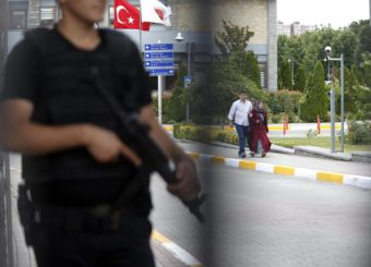 Family members of victims arrive at the Forensic Medical Center in Istanbul, Wednesday, June 29, 2016. (ANSA/AP Photo/Emrah Gurel) TURKEY OUT