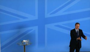 Britain's Prime Minister David Cameron addresses members of a World Economic Forum event focusing on Britain's  EU referendum in London, Tuesday, May 17, 2016. (ANSA/AP Photo/Frank Augstein, Pool)