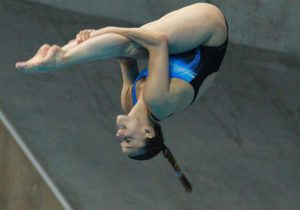 Italy's Tania Cagnotto in action during the Diving 3m Springboard Woman final  at the LEN European Aquatics Championships 2016 in London, Britain, 14 May 2016.  EPA/SEAN DEMPSEY
