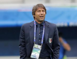 Italy coach Antonio Conte attends a walk around session at the Nouveau Stade in Bordeaux, France, Friday, July 1, 2016.(ANSA/AP Photo/Antonio Calanni)