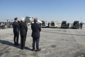 Lombardia Region's President Roberto Maroni, Italian President Sergio Mattarella and Milan's Mayor Giuseppe Sala at the arrival of the coffins with the bodies of the Italian victims of last week's terror attack in Nice at Malpensa airport, near Milan, northern Italy, 20 July 2016.  EPA/QUIRINALE PALACE PRESS OFFICE