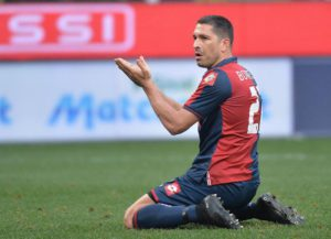 Genoa's Marco Borriello reacts during their Serie A soccer match Genoa-Chievo Verona at the Luigi Ferraris stadium in Genoa, Italy, 15 march 2015. ANSA/LUCA ZENNARO