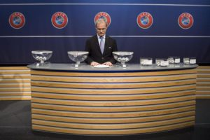 UEFA Competitions Director Giorgio Marchetti during the draw of the third qualifying round of the UEFA Champions League 2016/17 at the UEFA Headquarters, in Nyon, Switzerland, 15 July 2016.  EPA/JEAN-CHRISTOPHE BOTT