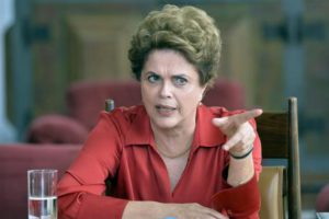 Suspended Brazilian President Dilma Rousseff participates in a meeting with the media in Brasilia, Brazil, 18 August 2016. EPA/CADU GOMES