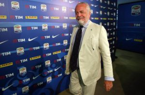 President of Ssc Napoli Aurelio De Laurentiis arrives at the headquarters of the League of Serie A to attend the Ordinary of the Serie A clubs, in Milan, Italy, 18 July 2016. ANSA / MATTEO BAZZI