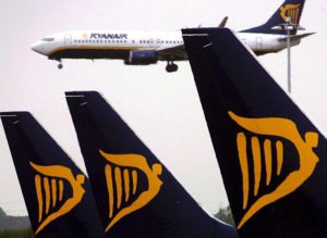 (FILE) A file picture dated 10 May 2007 shows a Ryanair planes at Dublin airport. .  ANSA/ANDY RAIN